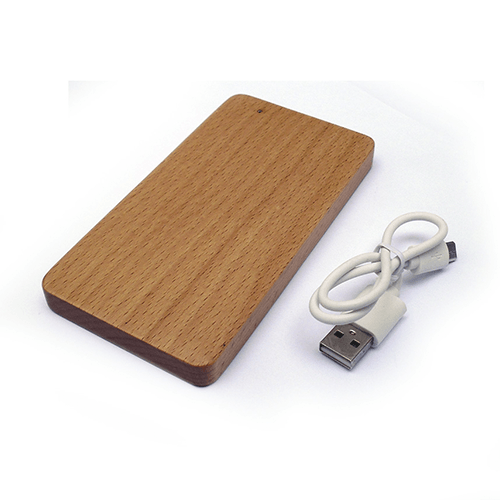 POWER BANK DE MADERA RECTANGULAR